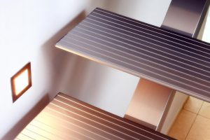 Insensation staircase, sustainable, aluminum staircase, metal staircase