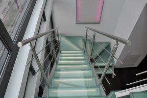 Glastreppe Escalier Metalltreppe Designtreppe AVC Schweiz