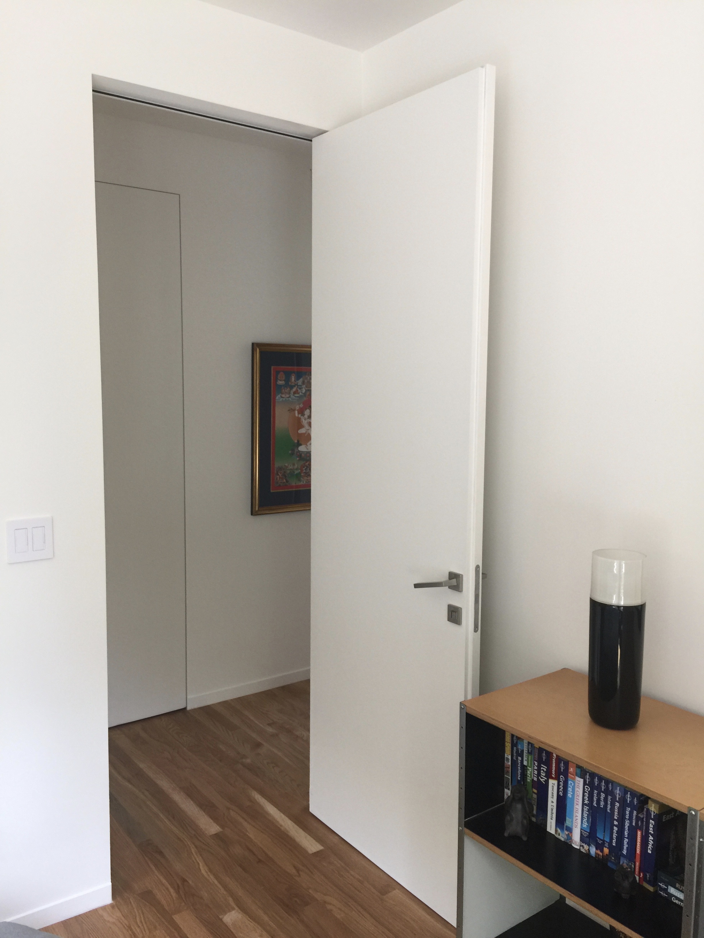by swing product door to wall internal the flush hardware bartels doors en h from